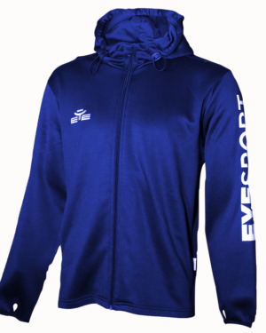 VESTE DE TRAINING HOODIE CLOSE BLEU NAVY-1
