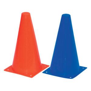 Cônes empilables / hauteur 23cm / kit de 20 avec support - Rouge-1