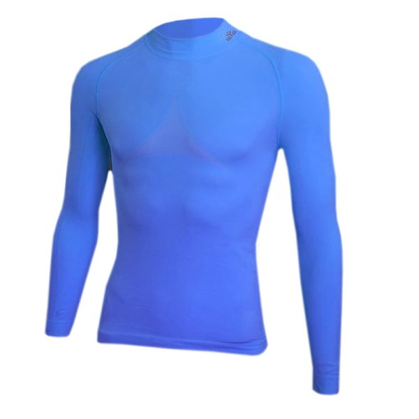 T-SHIRT DE COMPRESSION BLEU ROYAL LM-1
