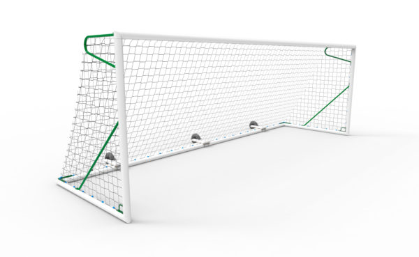 1 BUT FOOTBALL À 8 JOUEURS 6 x 2,10 m ALUMINIUM MARACANA - TRANSPORTABLE-1