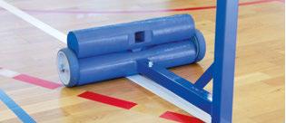 POTEAUX BADMINTON ENTRAÎNEMENT ACIER PLASTIFIÉ 40 x 40 mm - 45 kg AVEC LESTS-1