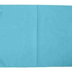 Serviette microfibre turquoise 30 x 50 cm lot de 10 -1