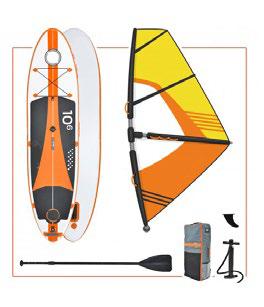 Paddle Surf W1 Avec Voile De Windsurf Synergies Vector