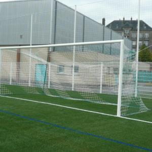 BUTS FOOTBALL 3 x 2 m - ALUMINIUM MARACANA Ø 102 mm - Sans fourreaux - À SCELLER-1