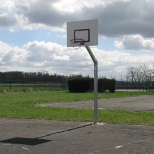 BUT BASKETBALL - DÉPORT 1,2 m - H. 2,60 m - ACIER GALVA À CHAUD - SCELLEMENT DIRECT-1