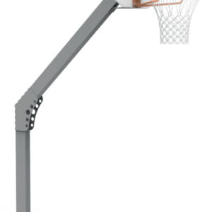 BUT BASKETBALL - DÉPORT 0,60 m - H. 2,60 m - ALUMINIUM PLASTIFIÉ - SCELLEMENT DIRECT-1