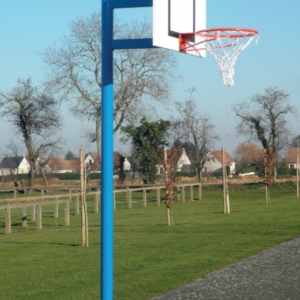 BUT BASKETBALL - DÉPORT 0,60 m - H. 3,05 m - Ø 102 mm - ACIER G+P - SCELLEMENT DIRECT-1