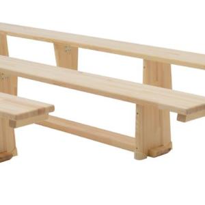Banc 3,5 m - pieds en bois-1