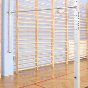 Barre de gymnastique horizontale à fixation murale de 1 zone + 1 prise dans le sol-1